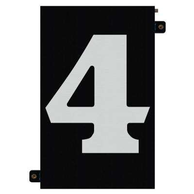 5 in. Modular LED Illuminated House Number 4