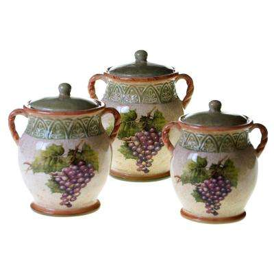 3-Piece Sanctuary Wine Canister Set