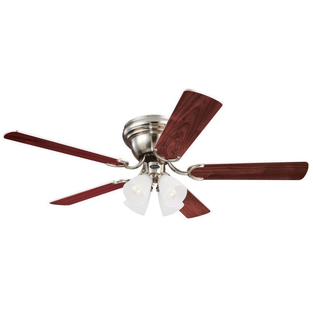 Contempra IV 52 in. Brushed Nickel Ceiling Fan
