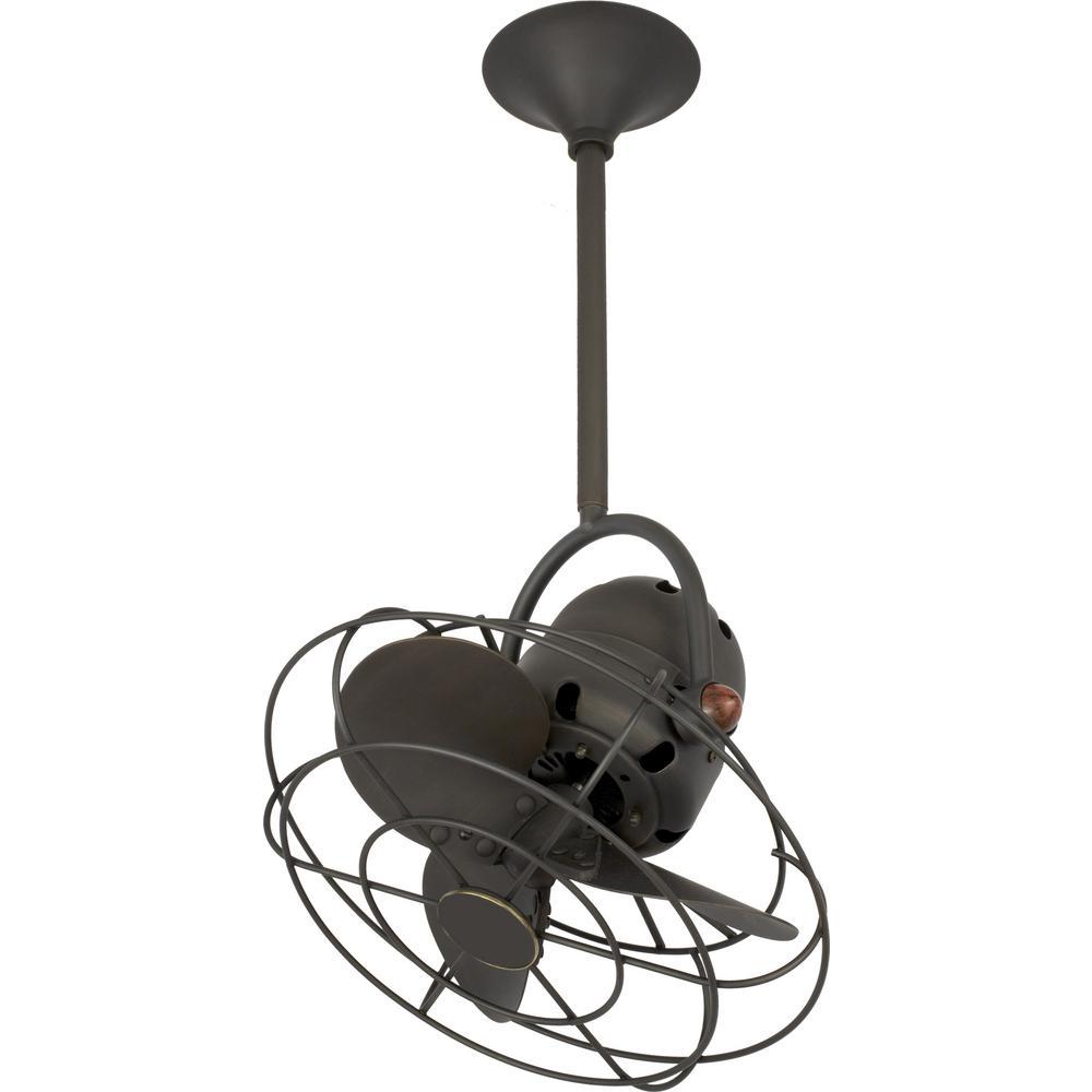 Mariah 13 in. 3-Blade Bronze Ceiling Fan