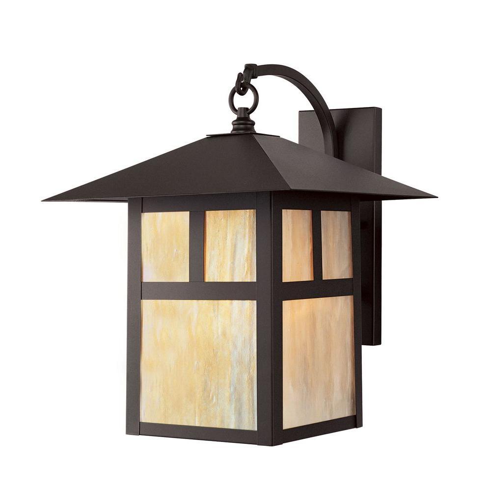 Livex Lighting Providence 1 Light Bronze Iridescent Outdoor Tiffany Gl Wall Lantern