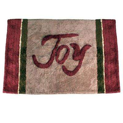 Grace 30 in. x 20 in. Cotton Bath Rug in Multi-Colors