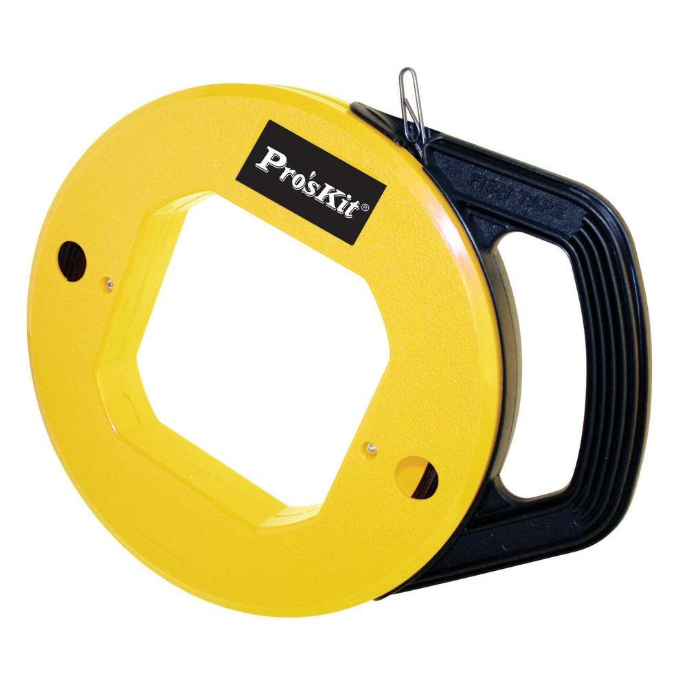 Yosoo Health Gear 100FT Fiberglass Fish Tape Reel with High Impact Case for Heavy Duty Wire Pulls