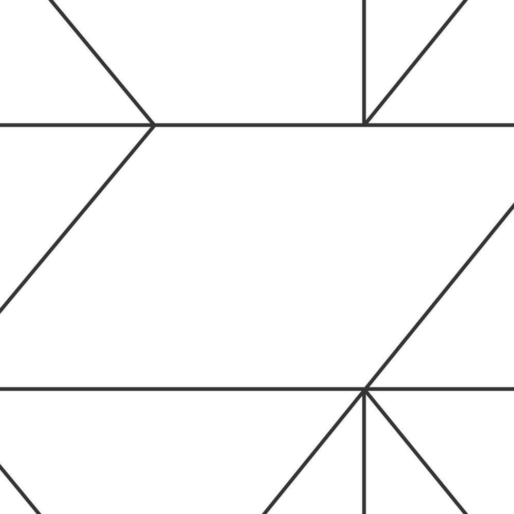 Black & White Kellys Geo Removable Wallpaper Sample