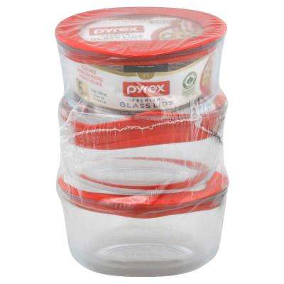 No Leak Value Pack Glass Storage Container with Lids