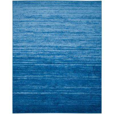 Adirondack Light Blue Dark 8 Ft X 10 Area Rug