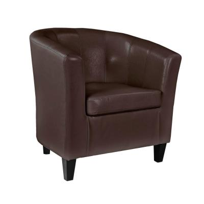 Antonio Brown Bonded Leather Tub Chair