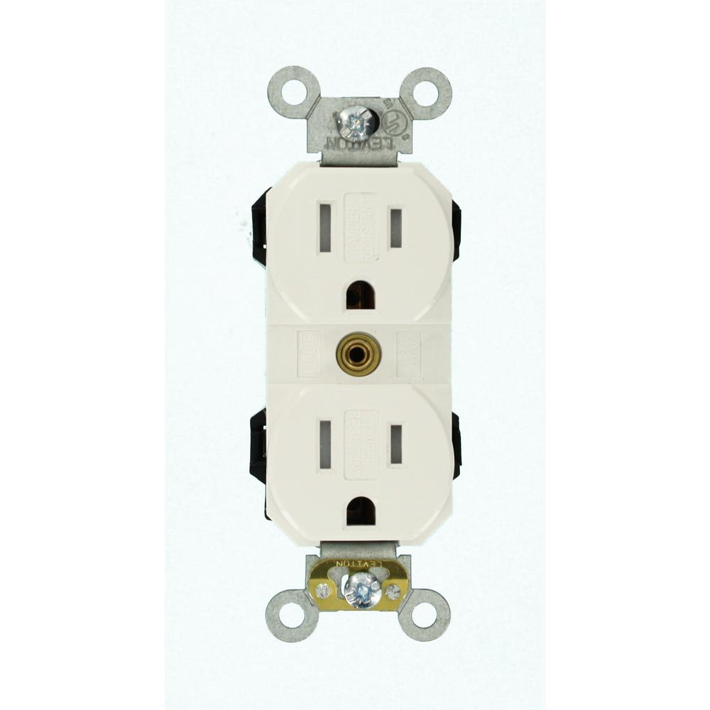 Leviton 15 Amp Lev-Lok Modular Wiring Device Commercial Grade Tamper ...
