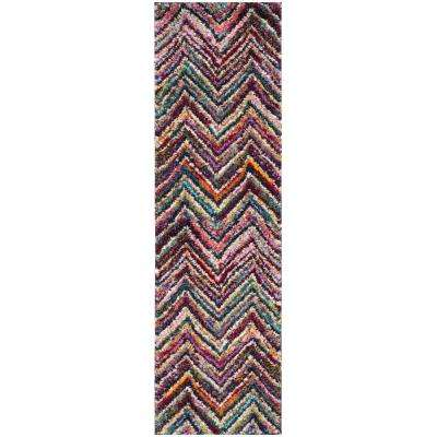 Fiesta Shag Multi 2 ft. x 8 ft. Runner Rug