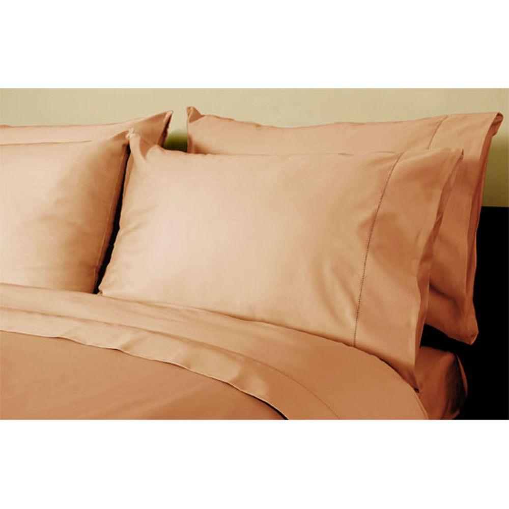 Home Decorators Collection Hemstitched Craft Brown Standard Pillowcases