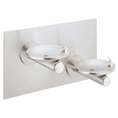 SwirlFlo Bi-Level Wall Mounted Drinking Fountain in Stainless Steel