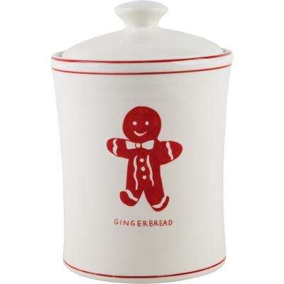9 in. H Gingerbread Canister with Lid