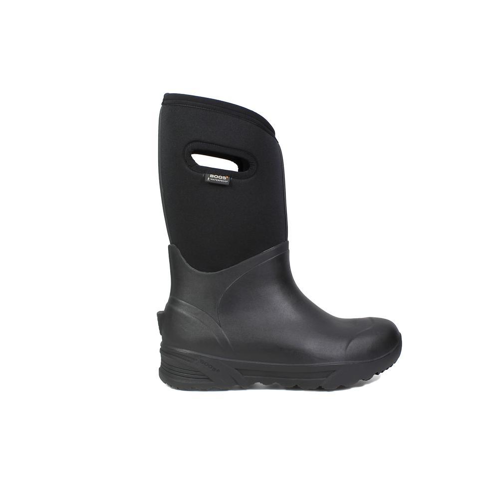 Bozeman Tall Men 14 in. Size 9 Black Rubber with Neoprene Waterproof Boot