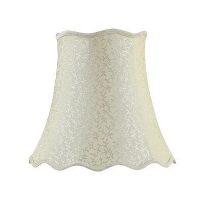 16 in. x 15 in. Beige with Vine Leaf Design Bell Lamp Shade