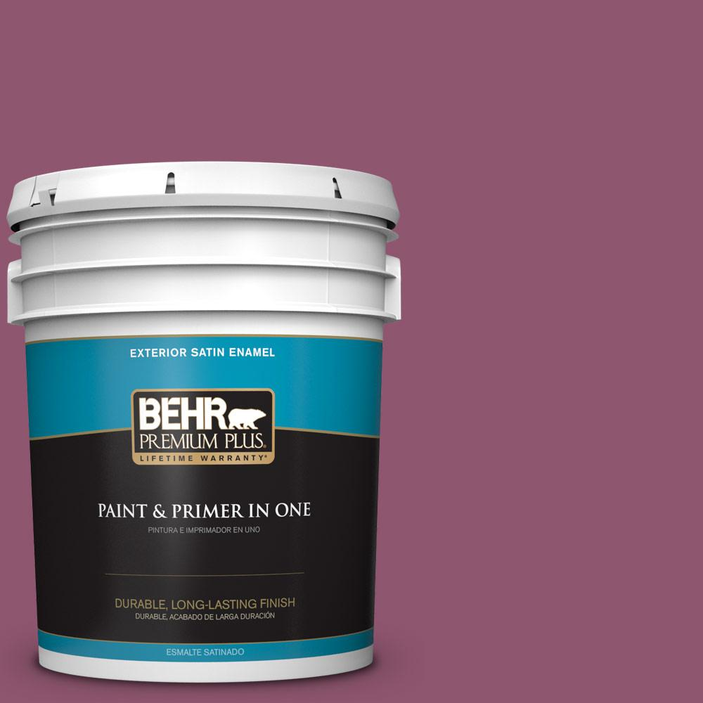 5 gal. #PPU1-17 Majestic Orchid Satin Enamel Exterior Paint