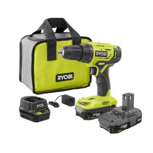 Ryobi 18 Volt One Lithium Ion Cordless 1 2 In Drill Driver Kit