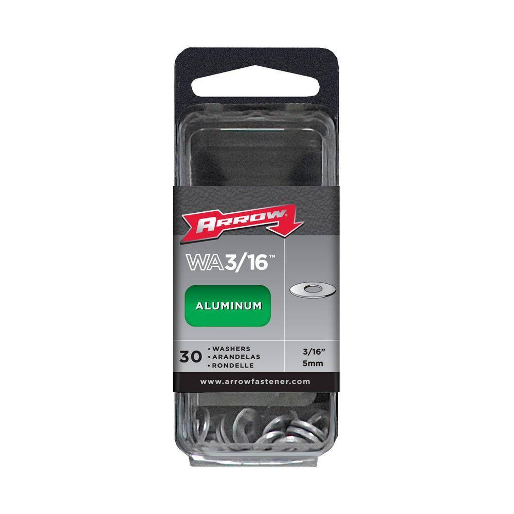 Arrow Fastener 3/16 in. Aluminum Rivet Washers (30-Pack)