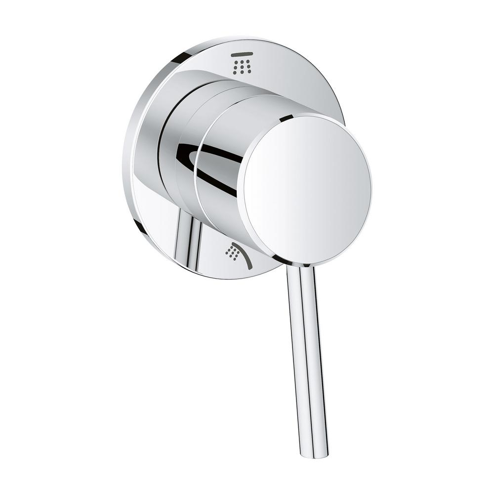 Incroyable GROHE Concetto 1 Handle 2 Way Diverter Valve Only Trim Kit In StarLight  Chrome