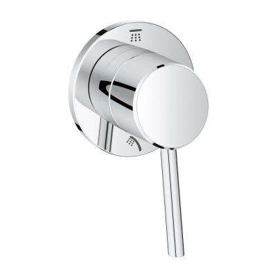 Concetto 1-Handle 2-Way Diverter Valve Only Trim Kit in StarLight Chrome (Valve Sold Separately)