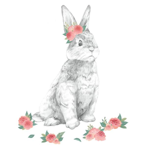Pastel Tabitha the Bunny Wall Decal