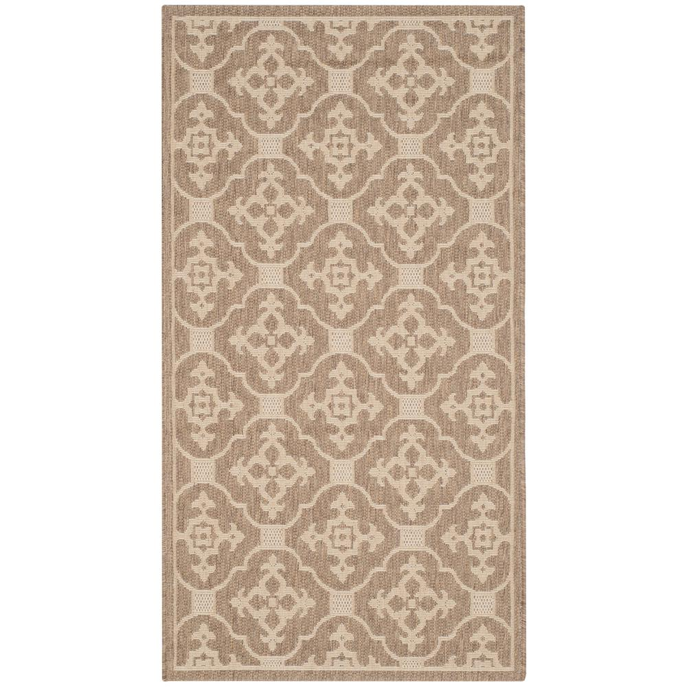 Courtyard Brown/Cream 2 ft. 7 in. x 5 ft. Indoor/Outdoor Area