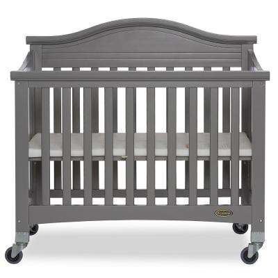 Venice Steel Grey Folding Portable Crib