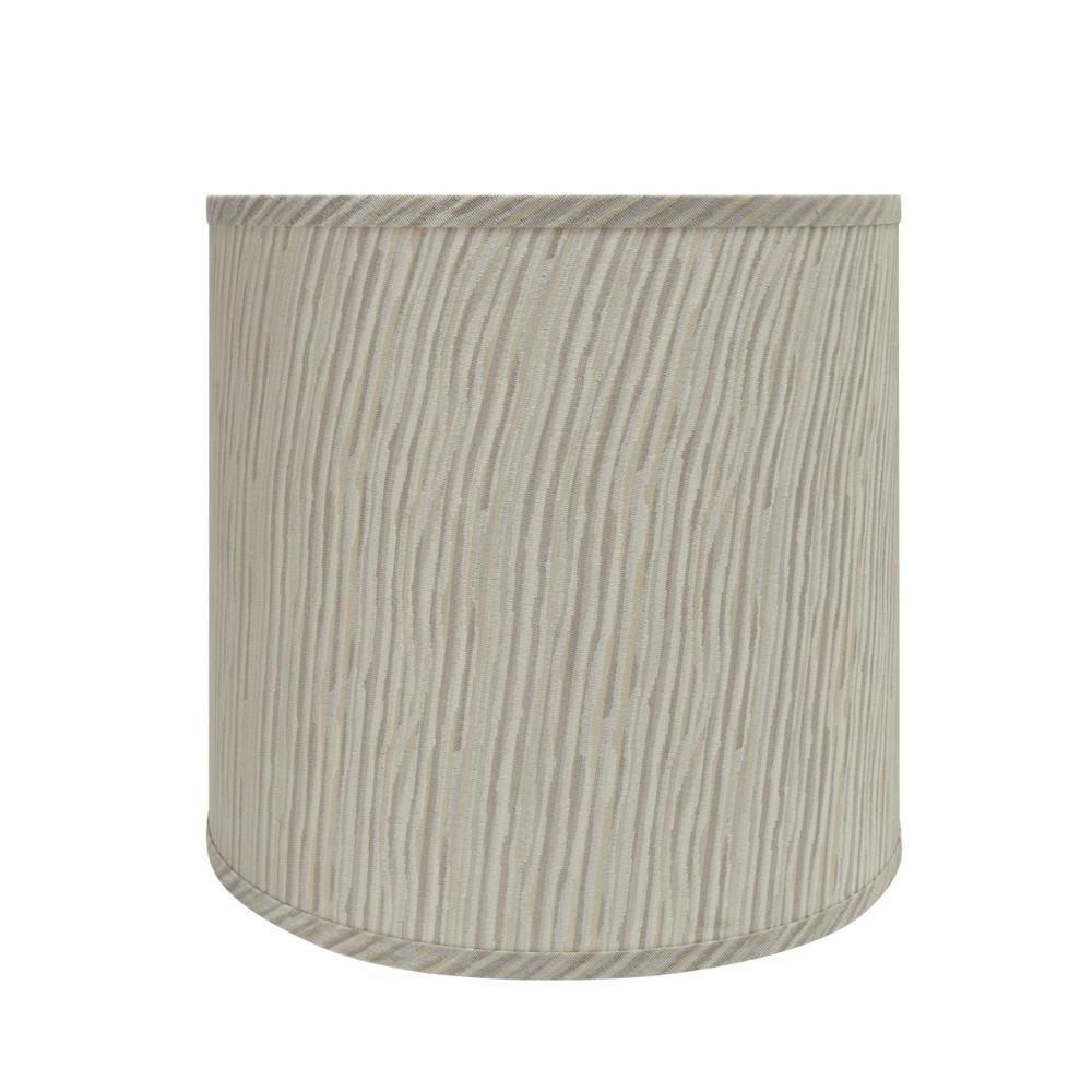 13 in. x 12 in. Striped Hardback Empire Lamp Shade