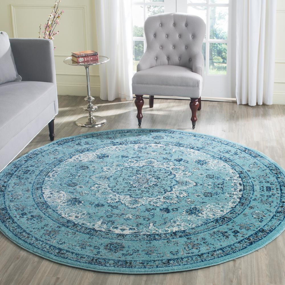 Safavieh Evoke Light Blue 6 Ft 7 In X 6 Ft 7 In Round