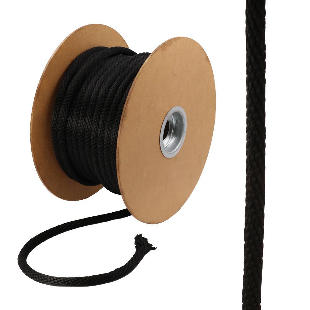5/8 in. x 200 ft. Polypropylene Solid Braid Rope, Black