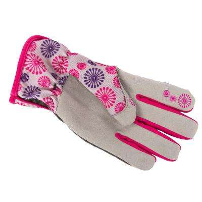 Women's M Utility Gloves in Pink-Purple