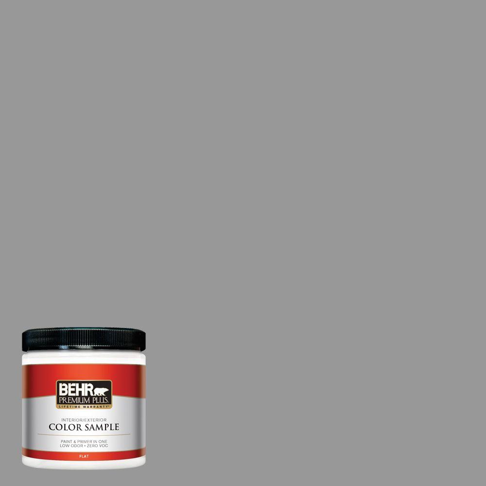 8 oz. #HDC-NT-10A Dolphin Gray Flat Zero VOC Interior/Exterior Paint and