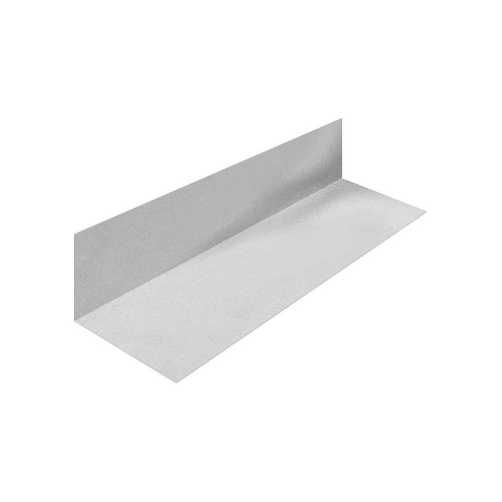 1 in. x 1-1/2 in. x 10 ft. Galvanized Steel 90°
