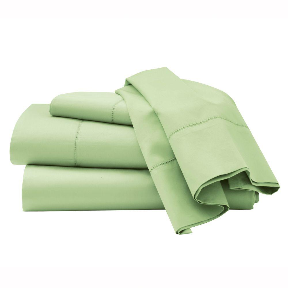 Home Decorators Collection Hemstitched Cottage Hill Twin Sheet Set