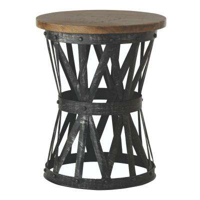 Jake Antique Natural Side Table