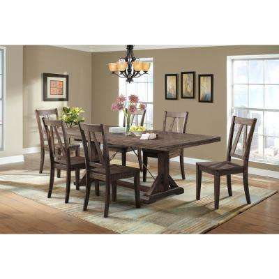 Flynn 7-Piece Dining Set-Table and 6 Wooden Side Chairs