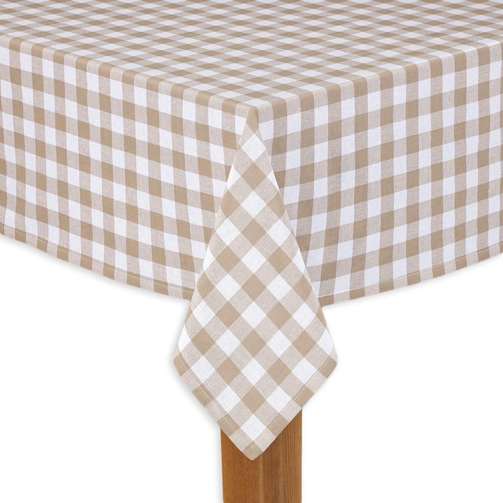 Buffalo Check 52 in. x 70 in. Sand 100% Cotton Table