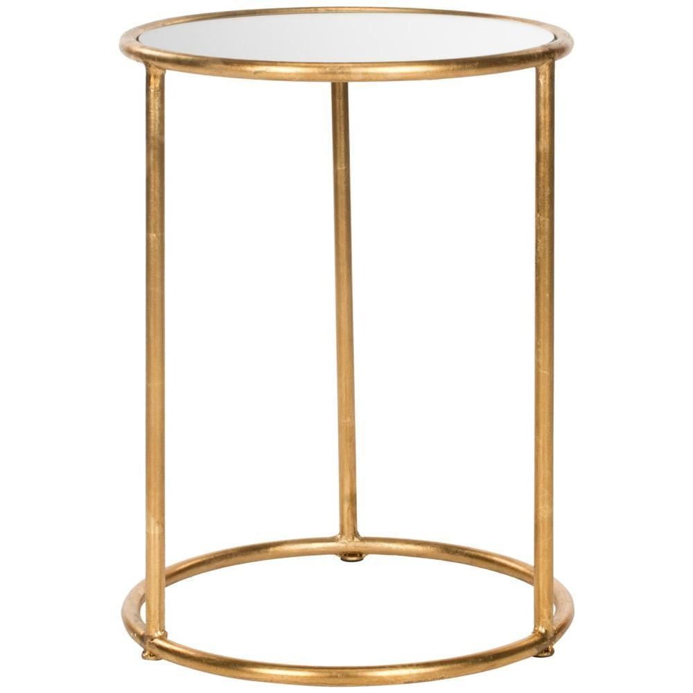Merveilleux Safavieh Shay Gold Mirror Top End Table