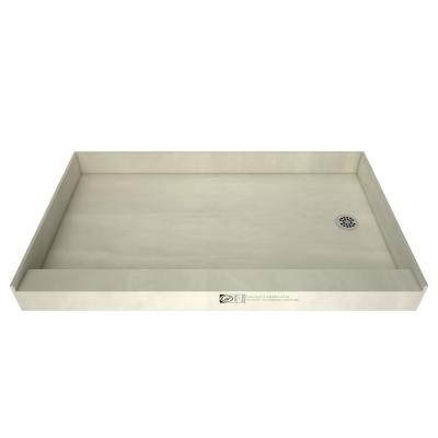 Redi Base 30 in. x 60 in. Single Threshold Shower Base with Right Drain and Polished Chrome Drain Plate