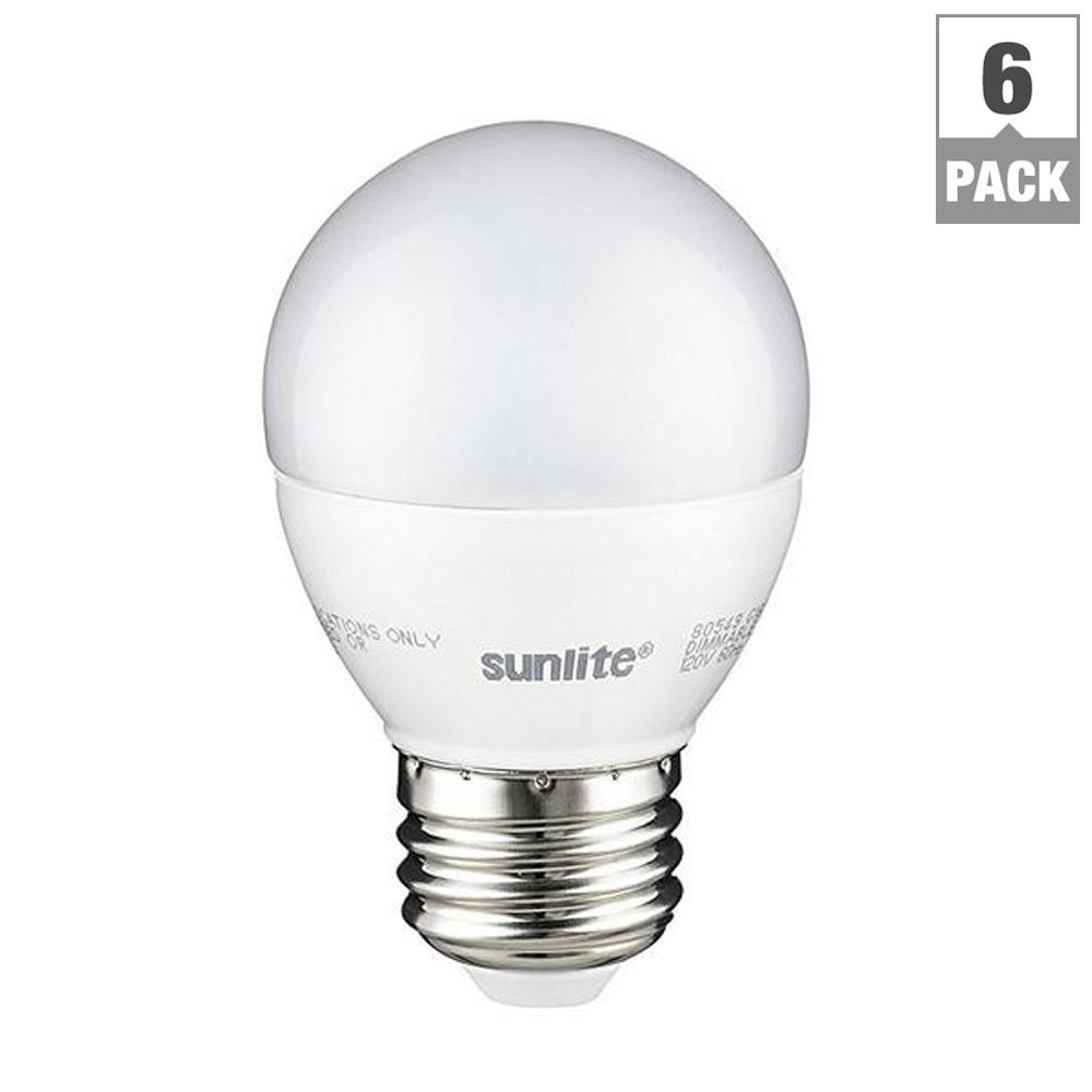 Bulbrite 40w Equivalent Warm White Light G16 Dimmable Led: Sunlite 60-Watt Equivalent Frost Warm White G16 Dimmable