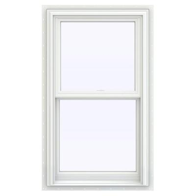 JELD-WEN 23.5 in. x 35.5 in. V-2500 Series White Vinyl Double Hung Window with BetterVue Mesh Screen