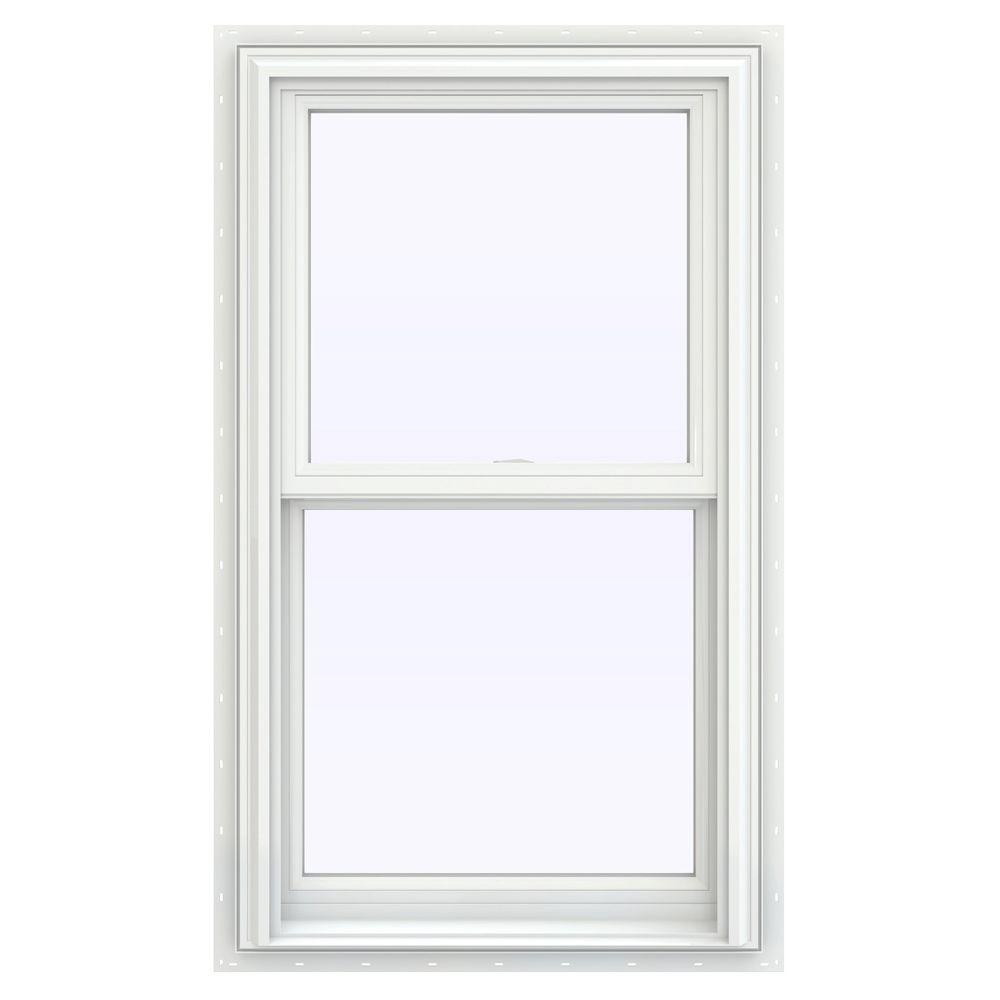 JELD-WEN 23.5 in. x 40.5 in. V-2500 Series Double Hung Vinyl Window - White