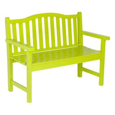 Belfort Cedar Wood Outdoor Garden Bench 43.25 in. - Lime Green