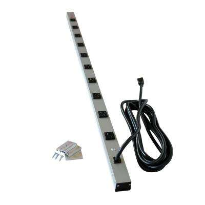 CabinetMATE 10-Outlet 15-Amp Power Strip, 15 ft. Cord