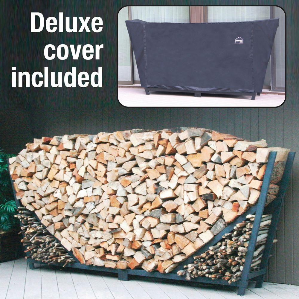 ShelterIT 8 ft. Heavy-Duty Firewood Log Rack with Cover