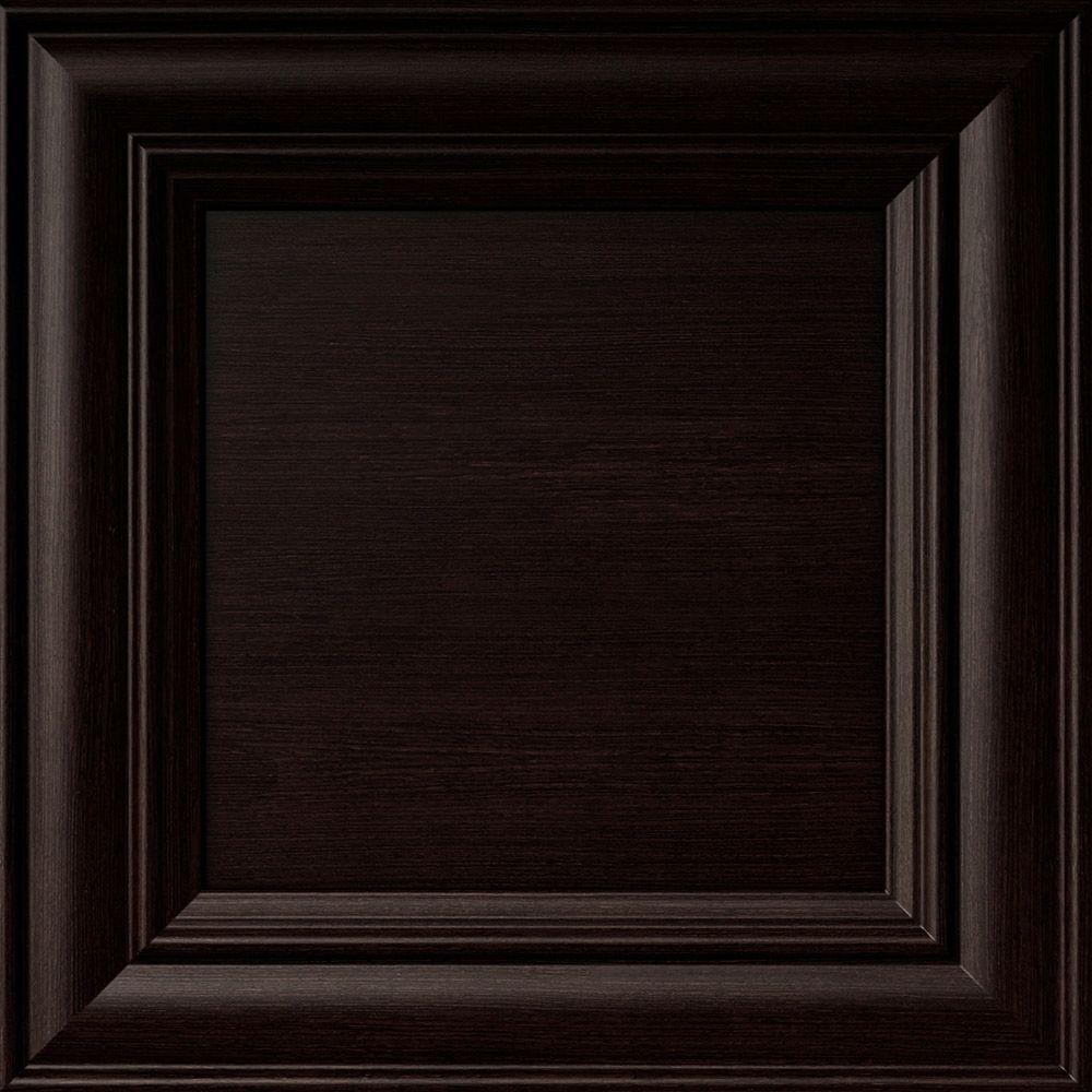 12.75x12.75x.75 in. Verona Ready to Assemble Cabinet Door Sample in Espresso