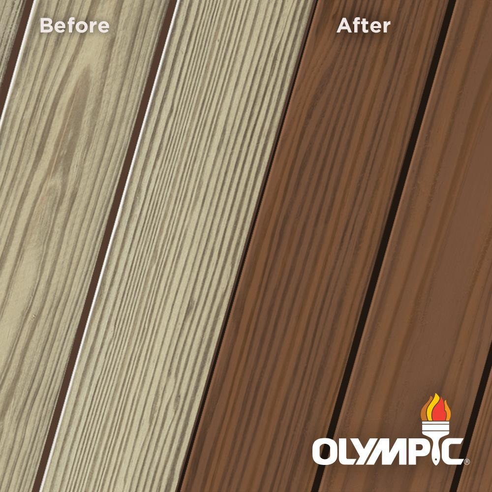 Olympic Elite 1 Gal. Canyon Sunset Semi-Transparent Exterior Wood Stain and Sealant in One