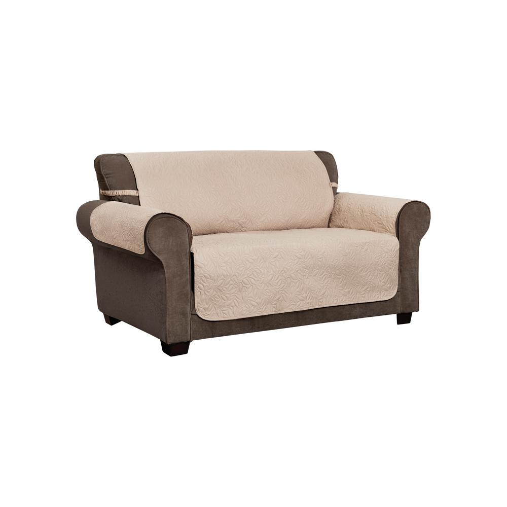 Pleasing Innovative Textile Solutions Belmont Leaf Secure Fit Loveseat Natural Furniture Cover Slipcover Gmtry Best Dining Table And Chair Ideas Images Gmtryco