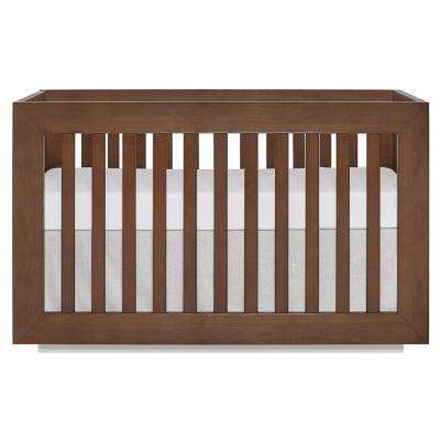 Maddox Modern Toffee and Brush White Convertible Crib