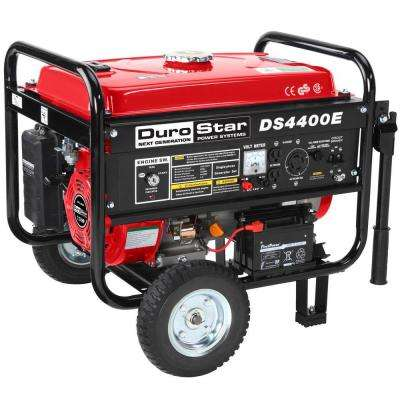 4,400-Watt Air Cooled OHV Gasoline Powered Electric Start Portable Generator with Wheel Kit