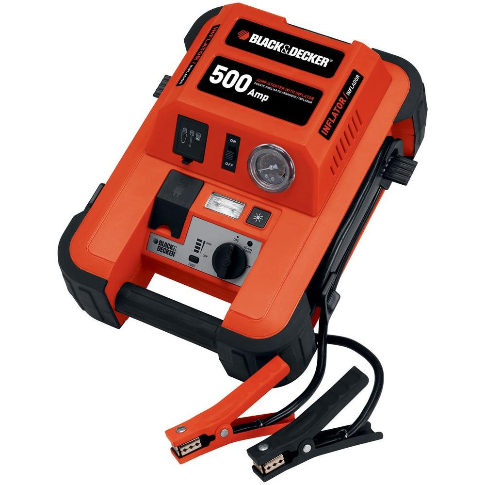 BLACK+DECKER 500-Amp Jump Starter with Inflator